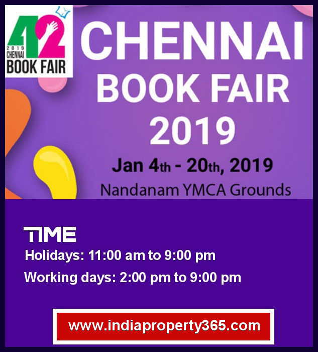 Chennai Book Fair 2019 - YMCA Grounds, Nandanam