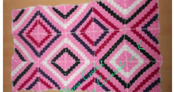 Cómo tejer un afgano usando el punto C2C ~ Dos Agujas y Crochet
