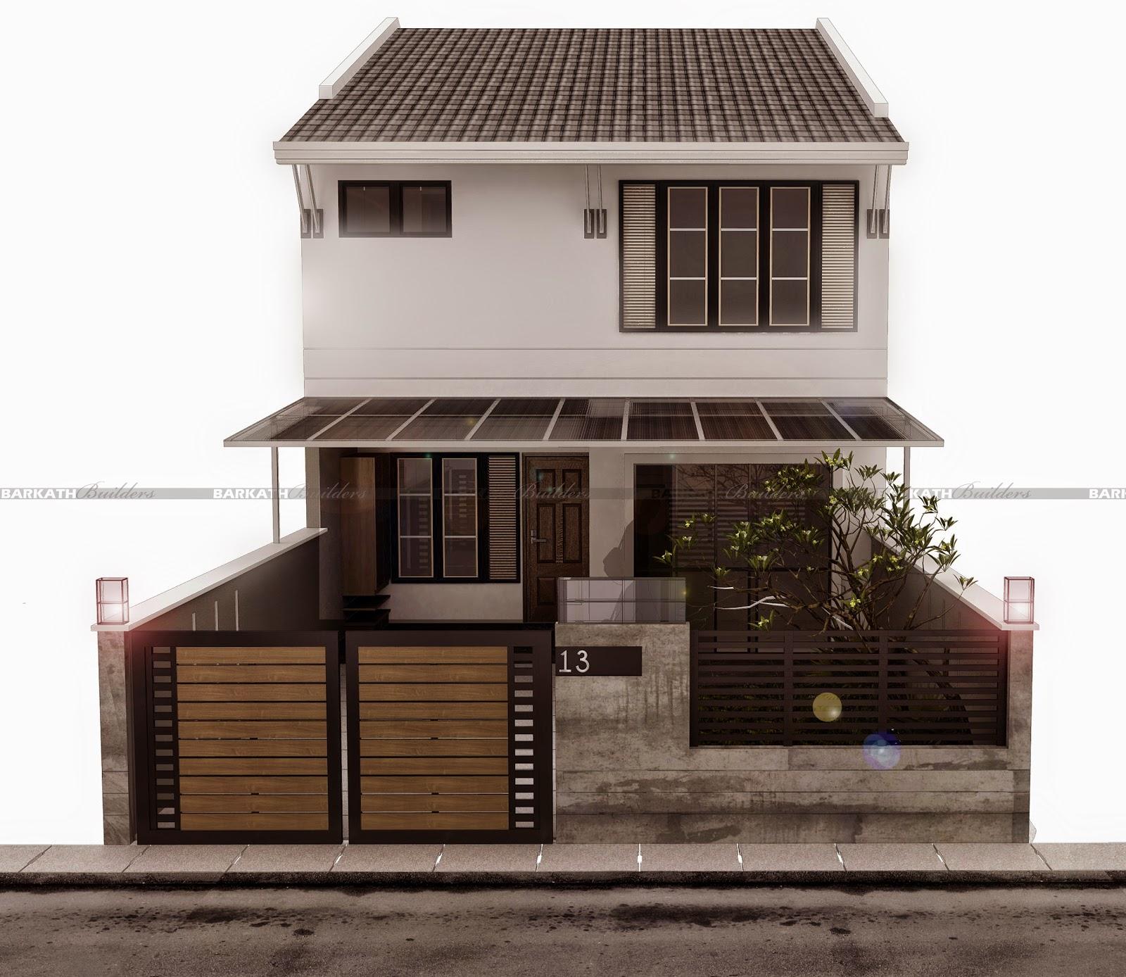 Projek Reka Bina Rumah Teres 2 Tingkat Berkonsepkan Moden Rastik