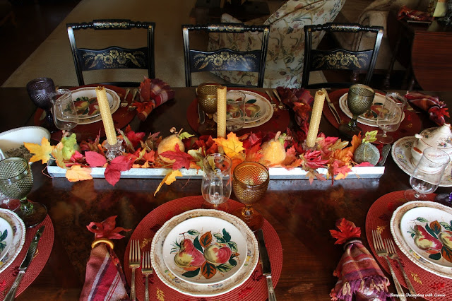 Fruit for Fall tablescape