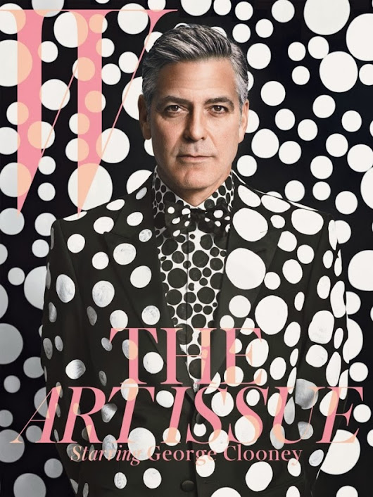 George Clooney | W Magazine Art Issue with Yayoi Kusama Designed Dots