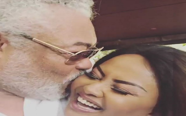 Ex-president Rawlings kisses Nana Ama McBrown [Video]