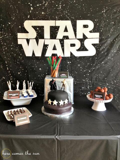 Star Wars Party via herecomesthesunblog.net