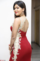 Rachana Smit in Red Deep neck Sleeveless Gown at Idem Deyyam music launch ~ Celebrities Exclusive Galleries 082.JPG