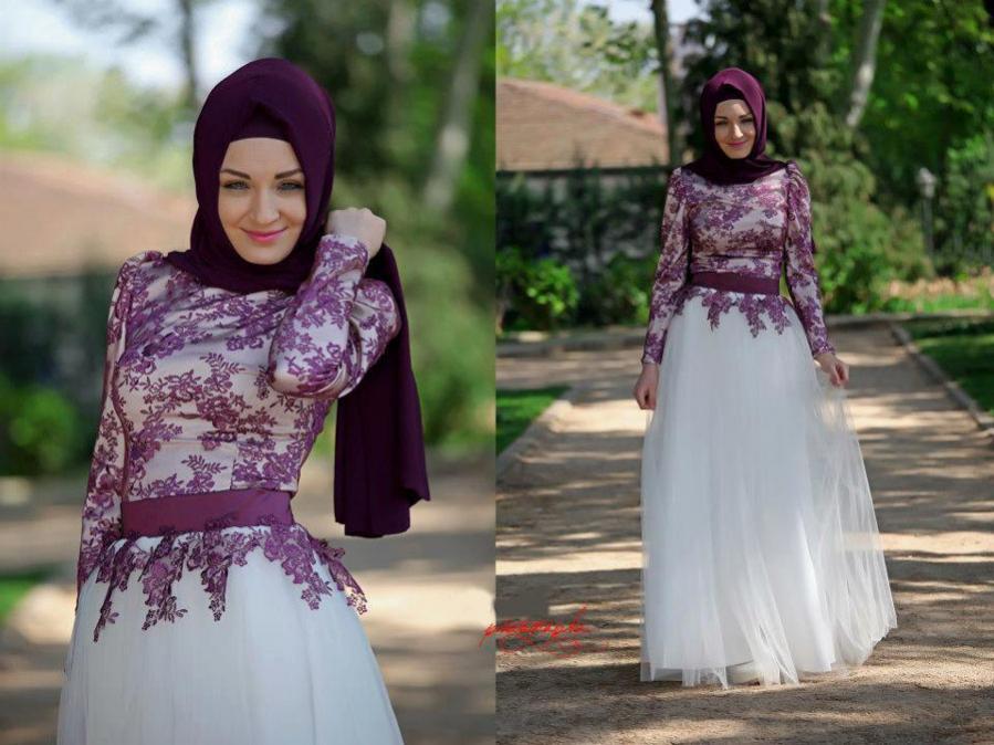 trend baju gamis remaja terbaru untuk pesta desain elegan