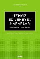 Filiz Berberoğlu Yenipınar -Temyiz Edilemeyen Kararlar Pdf