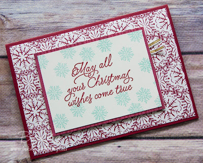 Christmas Card made using supplies from Stampin' Up! UK - Fast and Fabulous Christmas Card Series for 2016 - register here to get the 2016 Collection of Fast and Fabulous Christmas Cards