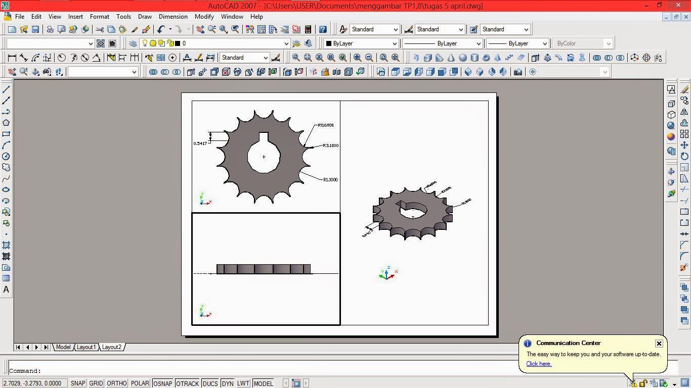 belajar di internet: contoh menggambar 2 dimensi dan 3 dimensi