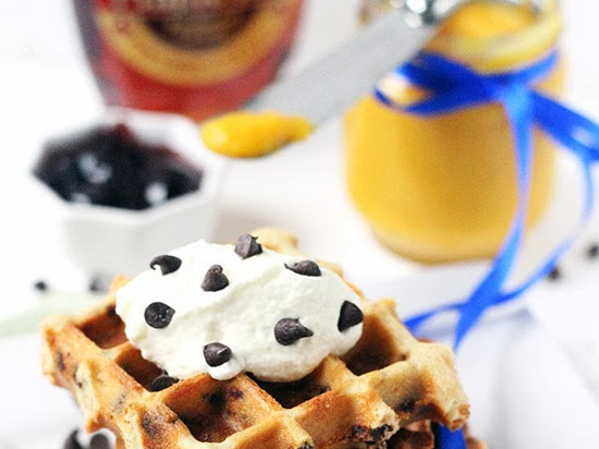 Easy Eggless Chocolate Chips Waffle