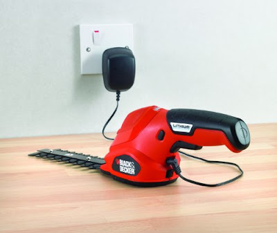 Black & Decker GSL300 tijera - Cortasetos (Litio, 3,6V, 8h, 600g) Rojo