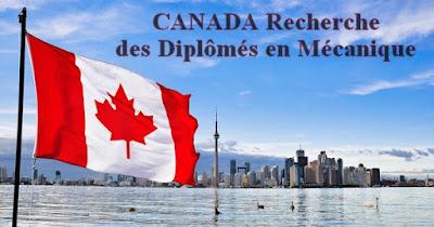 CANADA Recherche des Diplômés en Mécanique
