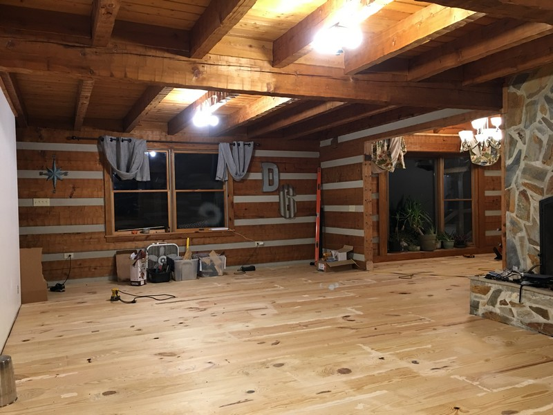 Diy 12 Wide Plank Pine Floor