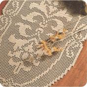 "Tapete Ovalado ""Espejismo"" a Crochet"