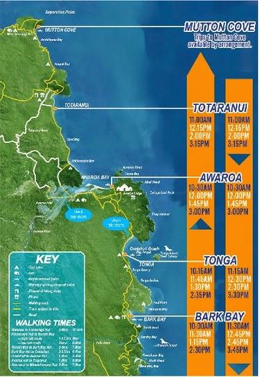 Abel Tasman National Park Map New Zealand