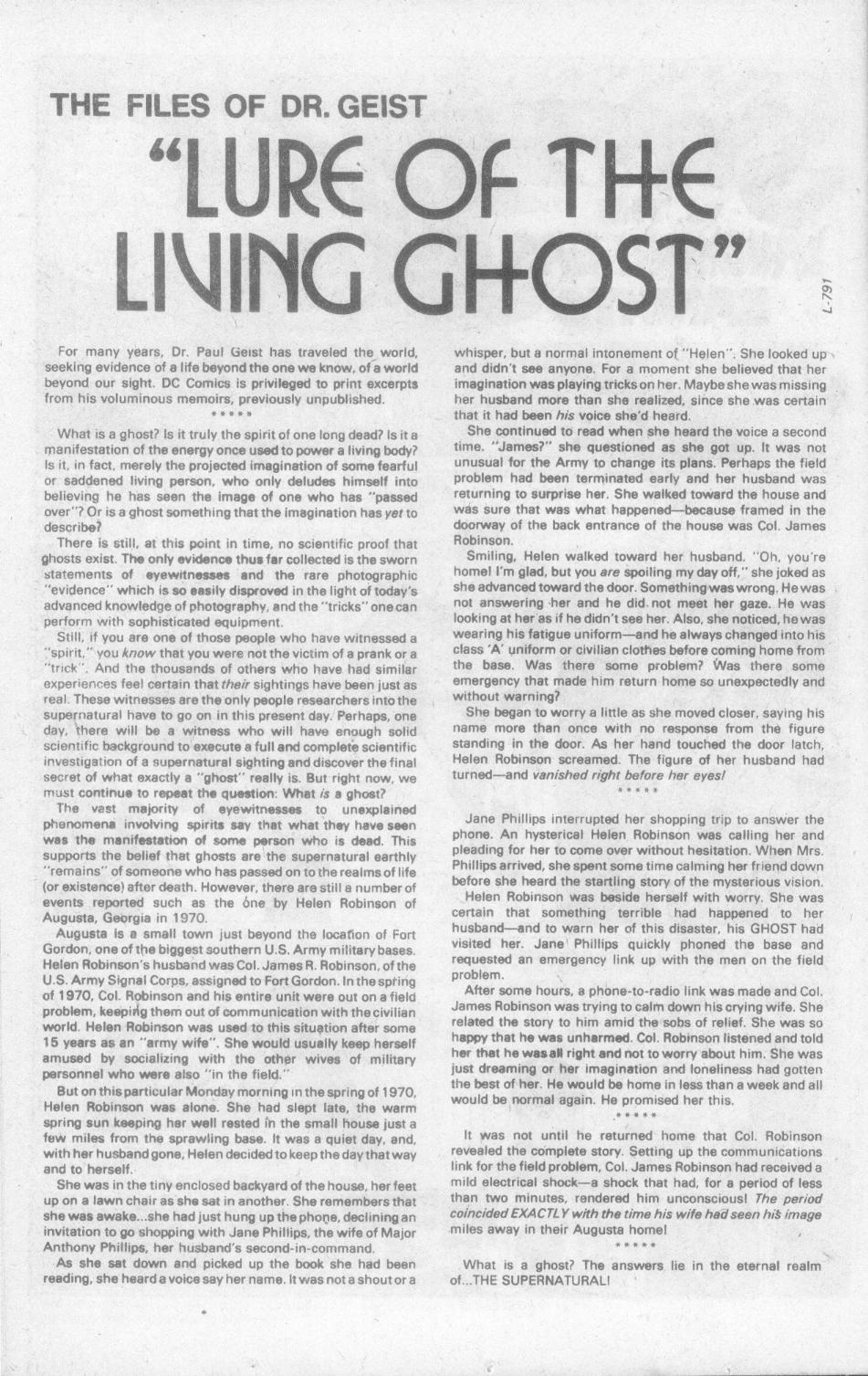 Read online Ghosts comic -  Issue #103 - 14