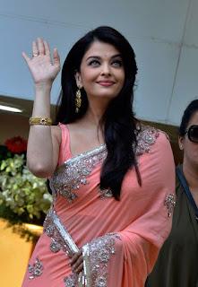 Aishwarya Rai Pink Saree