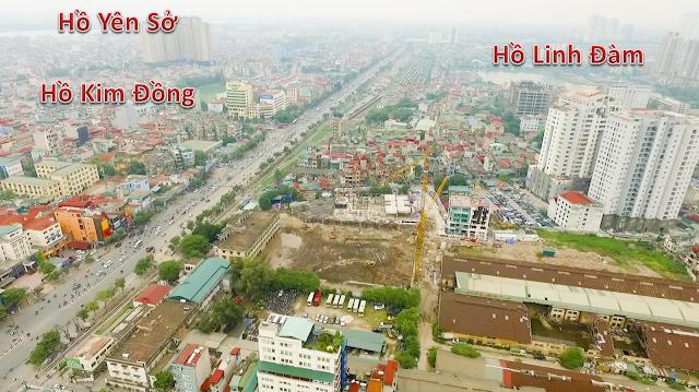 Hình ảnh nhìn từ trên cao chung cư 360 Giải Phóng
