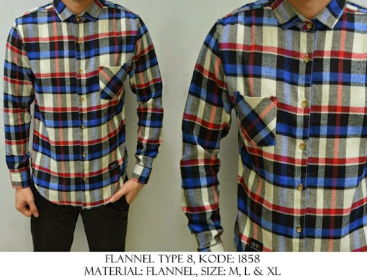 FLANNEL TYPE 8 KODE : 1858 IDR 120.000 | Welcome