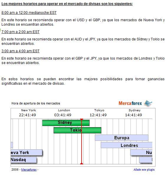 Caracteristicas del mercado forex