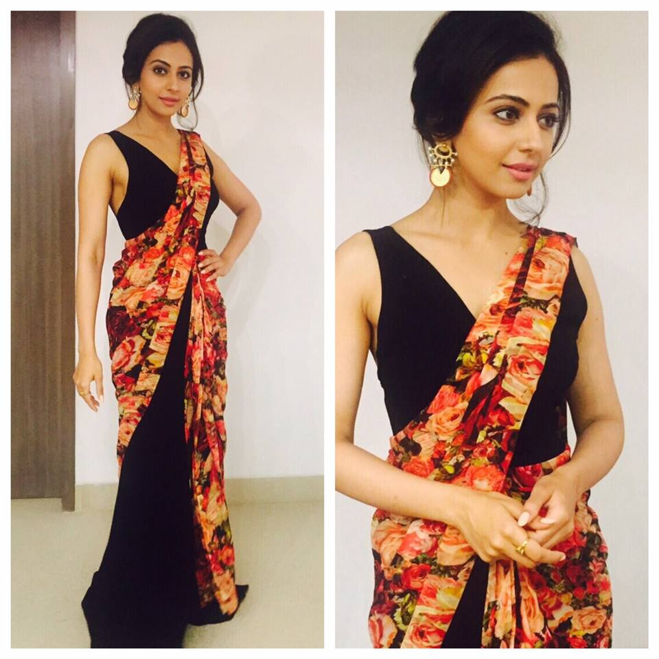 Rakul Preet Singh Gorgeous Photos In Black Saree