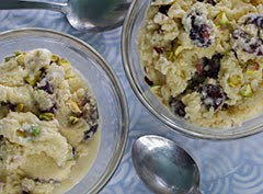 Amaretto Ice Cream w/ Cherries & Pistachios