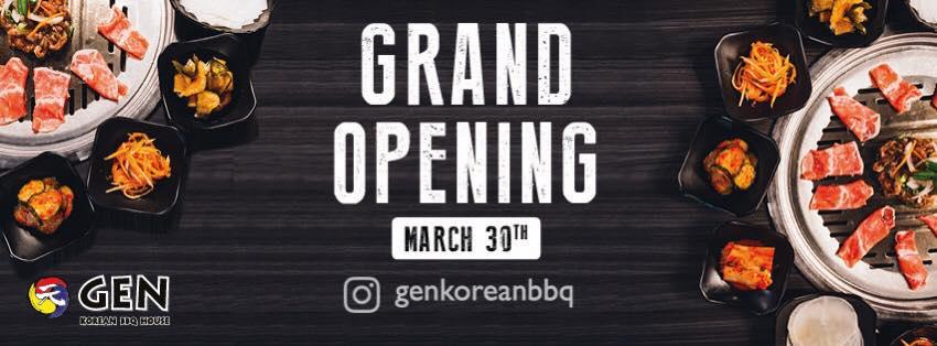 Mar. 30 | Buy 1 Get 1 Free AYCE BBQ @ Gen Bbq in Glendale