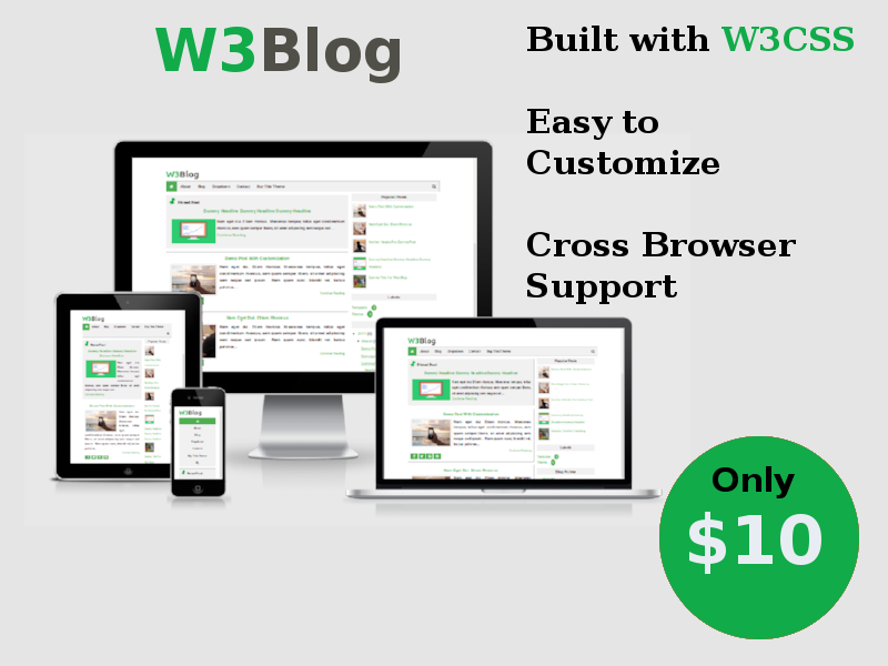 Download W3Blog Premium Responsive Blogger Template 2017 - ComProMath