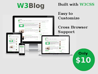 Download W3Blog Premium Responsive Blogger Template 2017