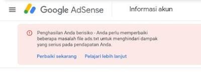 Cara Mudah Mengatasi Masalah Ads.Txt Pada Google Adsense
