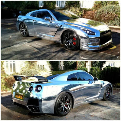 Basic Color Chrome Nissan Godzilla GTR R35
