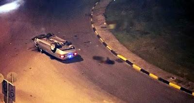 Οδηγός και επιβάτες εκσφενδονίστηκαν από κάμπριο σε τροχαίο στο Αγρίνιο
