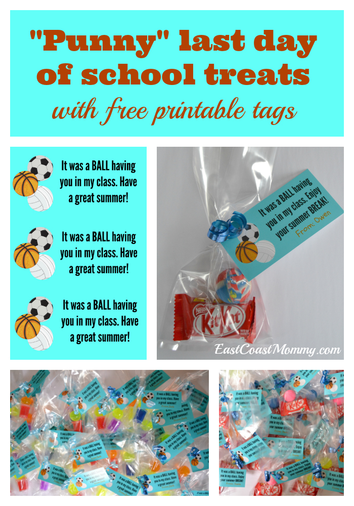picture regarding Have a Ball This Summer Free Printable referred to as East Coastline Mommy: Past Working day of Higher education Cl Snacks: BALLS