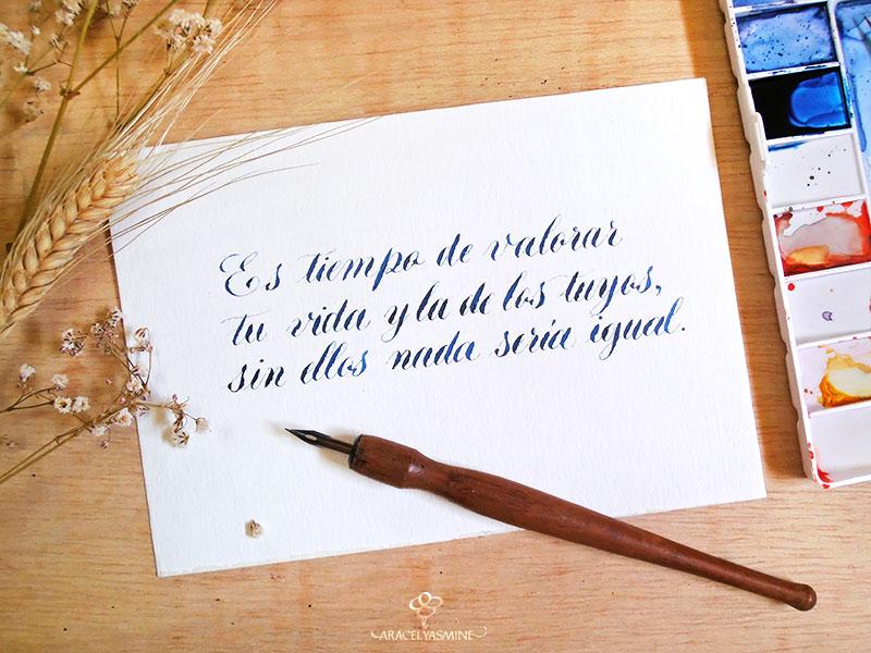 Acuarelas para caligrafía