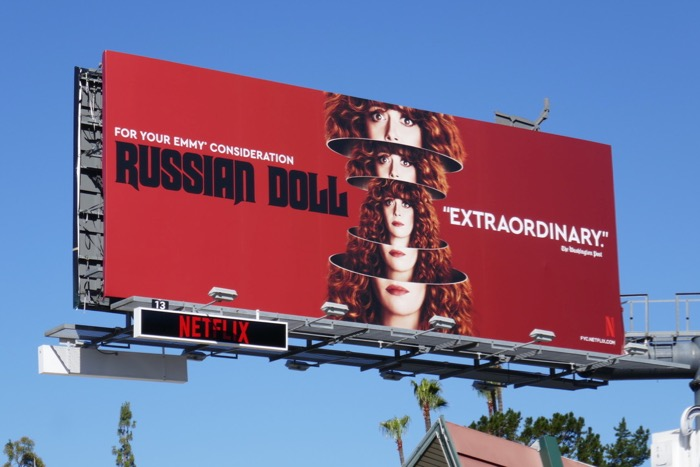 Russian Doll season 1 Emmy FYC nesting doll billboard