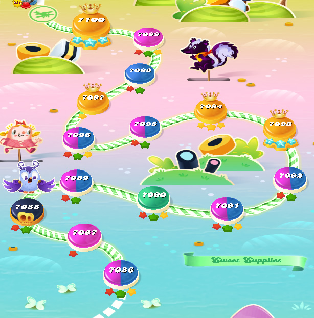 Candy Crush Saga level 7086-7100