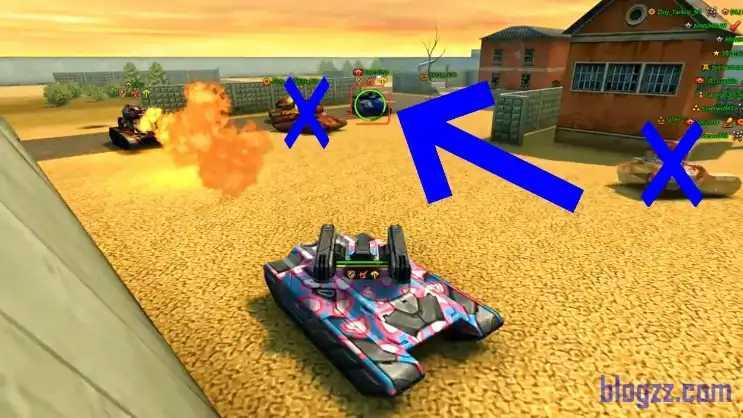 Sürpriz saldırılar yapmak Tanki Online'da başarı kazanmak için önemlidir.
