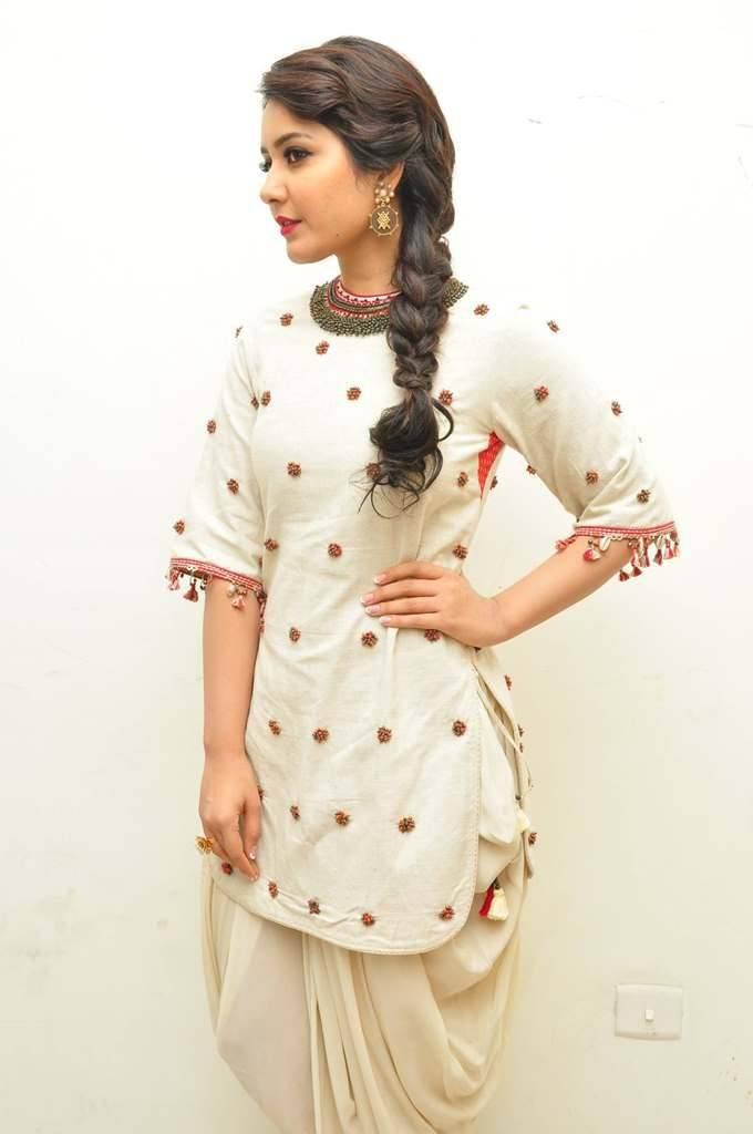Glamorous Indian Girl Rashi Khanna Images In White Dress ❤