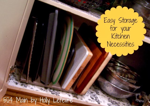 Easy Kitchen Storage EVER from 504 Main
