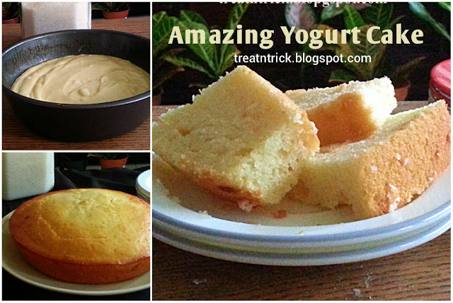 Amazing Yogurt Cake Recipe @ treatntrick.blogspot.com