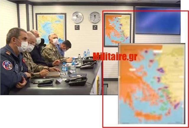 Χάρτης-μήνυμα για τα νησιά μας μέσα στο Κέντρο Επιχειρήσεων του τουρκικού στόλου! (ΦΩΤΟ)