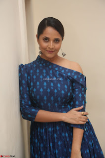Anchor Anasuya in a Blue Gown at Jai Lava Kusa Trailer Launch ~  Exclusive Celebrities Galleries 053