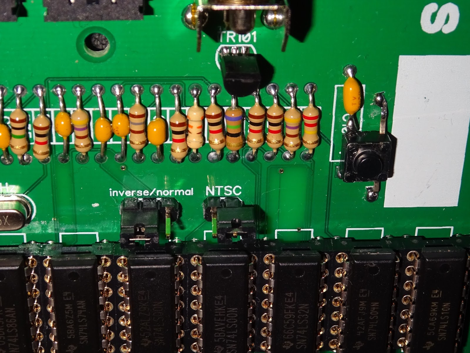 Tynemouth Software Minstrel Zx80 Clone Circuit Diagram There Is A Jumper To Select Pal Or Ntsc Mode On The Original Diode Was Fitted For And Resistor Zx81