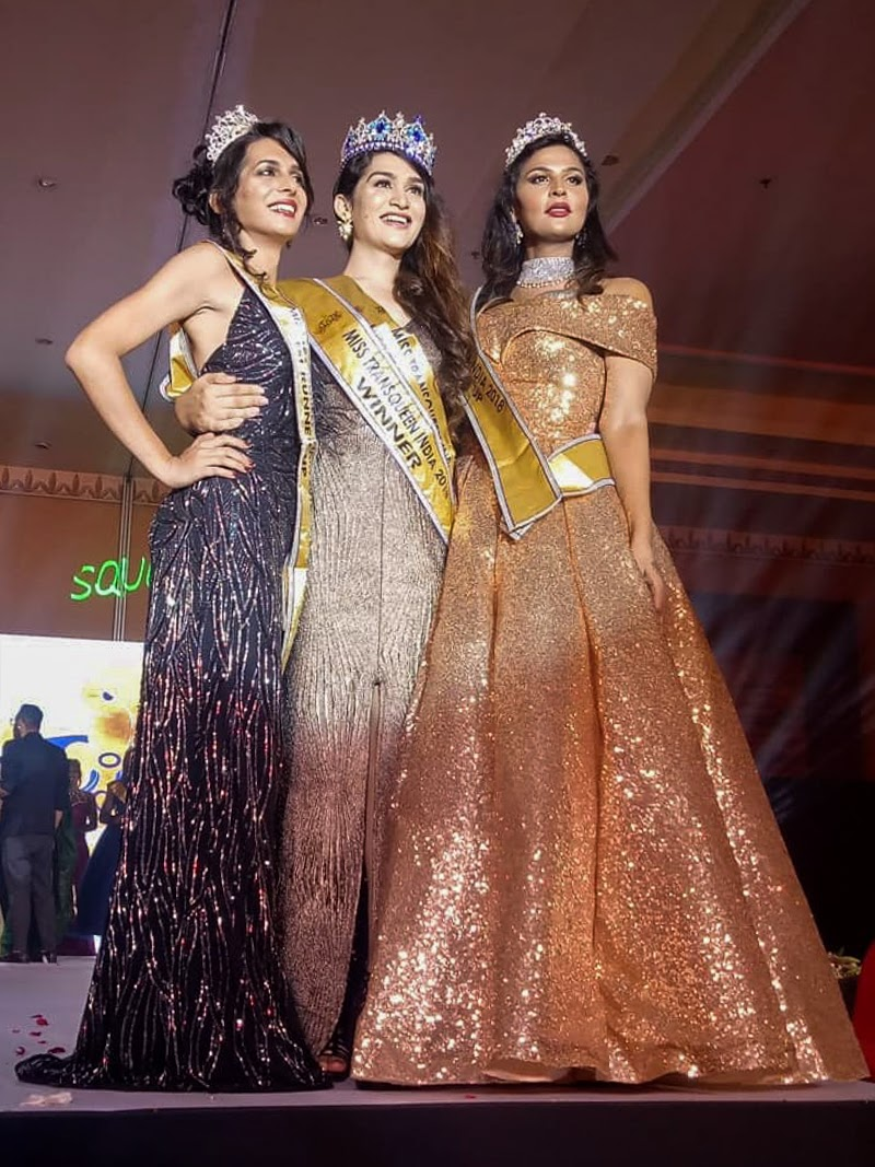 Veena Sendre India's first 'Miss Trans Queen'.