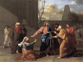 Nomes bíblicos de menino: letra C (Imagem: Mulher de Canaã aos Pés de Cristo - Jean Drouais)