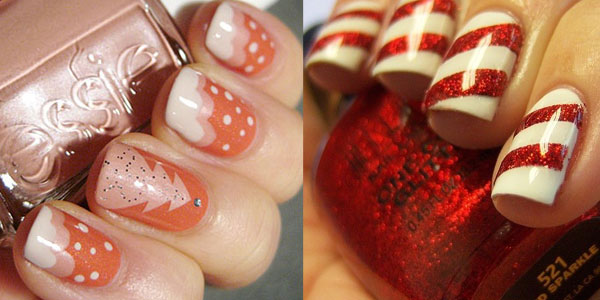 Candy Cane Stripes 3d Christmas Tree Nail Art: Michhysaurous: Christmas Nails Ideas
