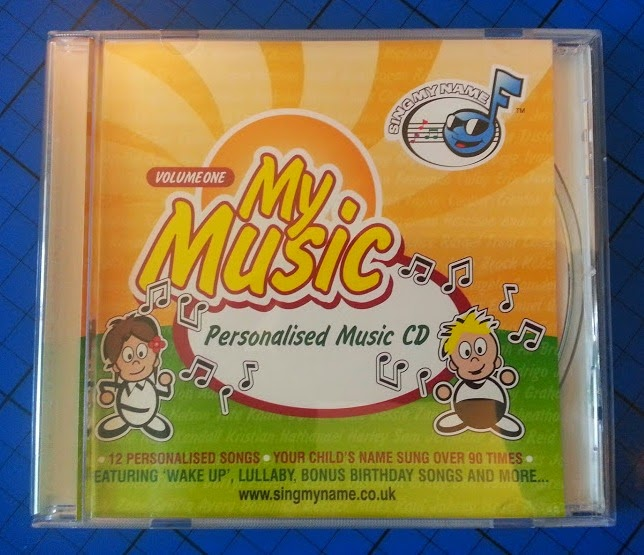 Sing My Name personalised children's music CD