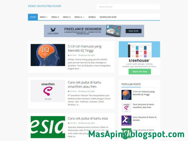 Template blogger SEO Ready terbaik 2018 SEO Fast Blogger Gratis