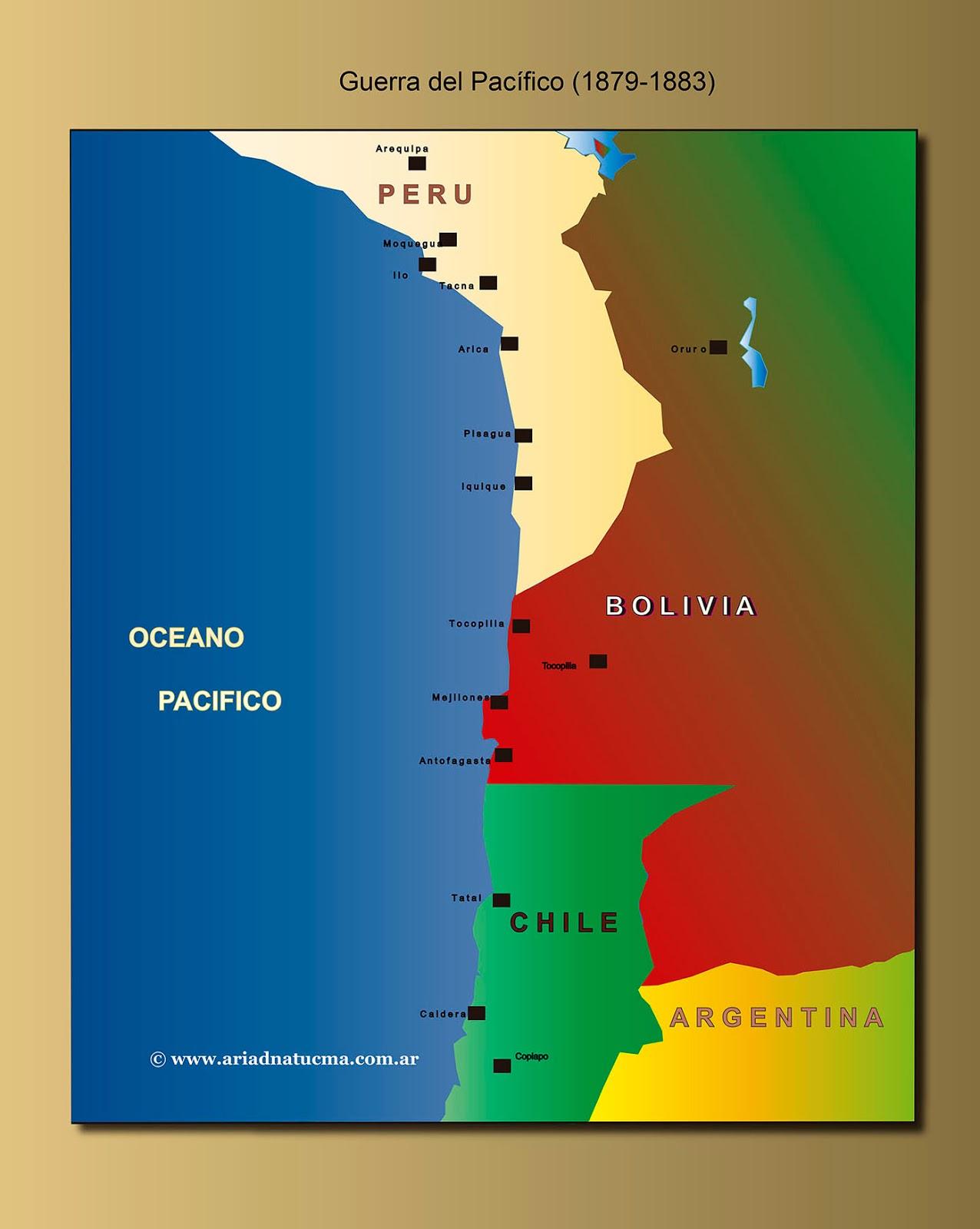 Mapas Antes Y Despues De La Guerra Del Pacifico