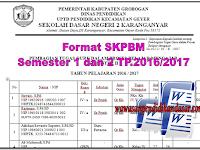 Download Contoh Format SKPBM semester 1 dan 2 tahun pelajaran 2016/2017