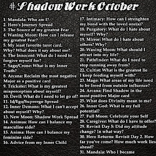 Get yourself started on shadow work: #ShadowWorkOctober